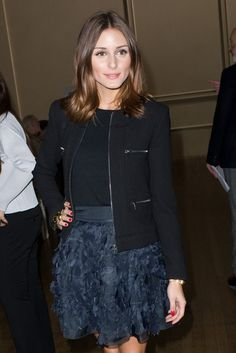 Olivia Palermo at Julien MacDonald fashion show 2011, part of London FW (wearning a Diane Von Frustenberg jacket)