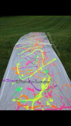 Paint slip n slide!! Everyone wear white!