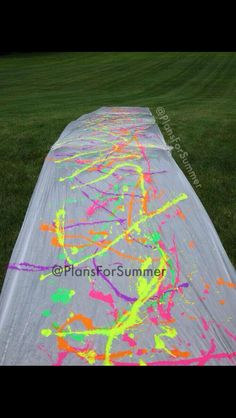 Paint slip n slide!! Everyone wear white!