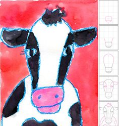 How to draw a cow. Art Projects for Kids.