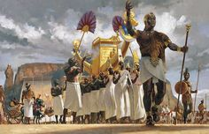 King Taharqa leads his Queens