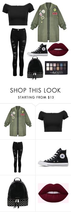 """Untitled #19"" by xdhx16 ❤ liked on Polyvore featuring Alice + Olivia, Dorothy Perkins, Converse, MICHAEL Michael Kors and Maybelline"