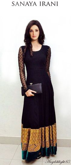 Kriti Sanon Black Net Long Gown 36187 - Fashion Show Indian Gowns, Indian Attire, Indian Wear, Indian Style, Black Indian Gown, Pakistani Outfits, Indian Outfits, Desi Clothes, Indian Clothes