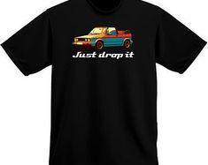 Vw Cabriolet Just Drop It T-Shirt|Vdub Shirt Club|Volkswagen shirts|VW shirts|VW T-Shirts|Etsy
