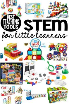 Best STEM Teaching Tools for Little Learners Here are our favorite STEM toys and tools for teaching little learners. These are perfect for preschool, kindergarten, and first grade students. Preschool Science, Preschool Toys, Preschool Classroom, Stem Learning, Kids Learning, Learning Stories, Toddler Learning Toys, Toddler Books, Toddler Gifts