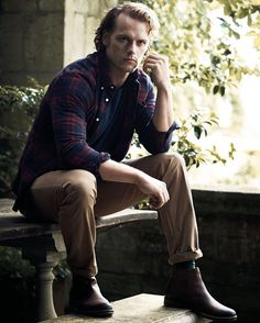 Sam in a Barbour shot.....I hope he's actually buying these clothes :)