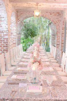 Décoration de mariage rose et argenté