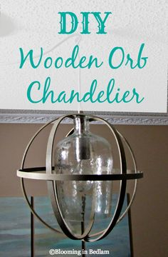DIY Orb Chandelier. Make your own Rustic Wooden Orb Pendant light. Super easy and completely customizable, this diy lighting project is frugal and budget friendly