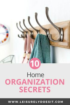 Do you find it challenging to organize your home? Learn my best organization secrets to corral the clutter so you can keep you house tidy once and for all. Declutter Your Home, Organizing Your Home, Organizing Tips, Organising Ideas, Getting Rid Of Clutter, Getting Organized, Small Space Storage, Storage Spaces, Secret Organizations