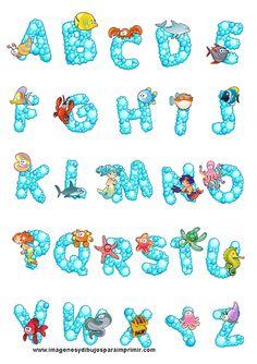letras con dibujos para imprimir