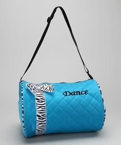 Blue Bow 'Dance' Duffel Bag | Daily deals for moms, babies and kids