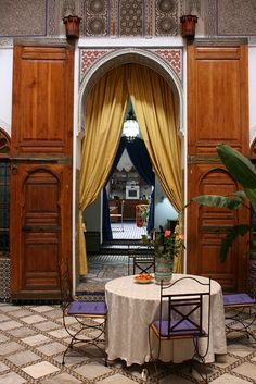 Riad in Morocco. Riads are beautiful small, and personal accommodations. Decorated in Arabic style.   www.asilahventures.com
