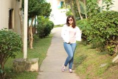Look do dia: Rosa e Branco – Camila Kawaminami