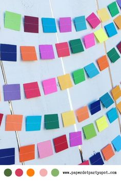 This colorful rainbow square paper garland is perfect for any occasion because it matches any party decor! You can use it for a party or simply for added color to your dorm room, apartment, office, or home. It will put you a good mood! Paper Party Decorations, Birthday Party Decorations, Party Themes, Party Ideas, Milestone Birthdays, First Birthdays, Apartment Office, Party Garland, Cake Smash