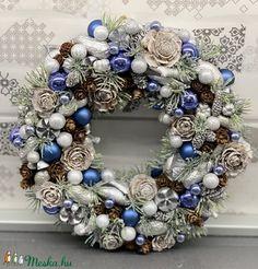 Jégvarázs - ajtódísz, kopogtató, dekoráció (AKezmuvescsodak) - Meska.hu Hanukkah, Christmas Wreaths, Holiday Decor, Diy, Home Decor, Decoration Home, Bricolage, Room Decor, Do It Yourself