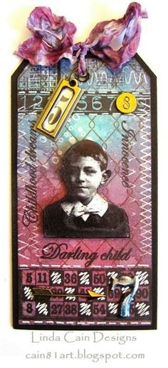 FRIENDS in ART: Tutorial - Childhood Dreams and Innocence Tag with stamps from The Artistic Stamper.