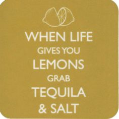 NEW WHEN LIFE GIVES YOU LEMONS GRAB TEQUILA AND SALT COASTER RETRO DRINKS MAT | eBay
