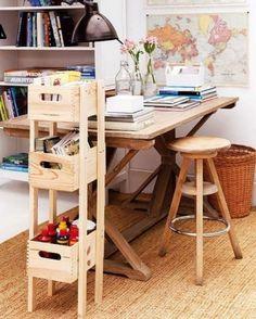 DIY stack of drawers organizer