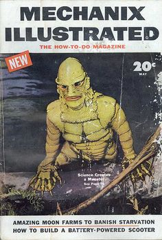 "The Creature from the Black Lagoon|""Science Creates a Monster"": Mechanix Illustrated magazine,  May 1954."
