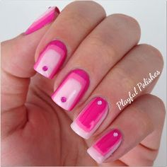 pink gradient / ombre nails - nail art