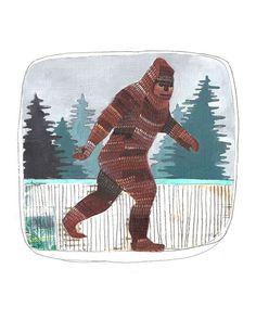 Sasquatch Art Print // Print of an Original by michelemaule