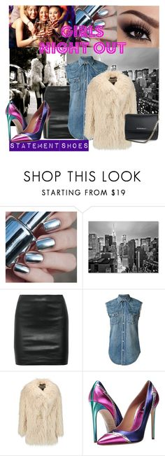"""Girls night out"" by mydreamingcloset ❤ liked on Polyvore featuring Trademark Fine Art, The Row, Yves Saint Laurent, AINEA, Dsquared2, Givenchy, Girls, NightOut, polyvorecommunity and statementshoes"