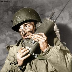 US Fifth Army soldier In Italy - 1945 ww2