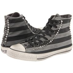 John Varvatos Chuck Taylor All Star Studded Black ($150) ❤ liked on Polyvore