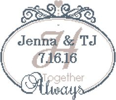 Modern Wedding Cross Stitch Pattern, From this Day Forward with ...