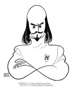 William Shakespeare - Al Hirschfeld Shakespeare Portrait, William Shakespeare, Grant Wood American Gothic, Jc Leyendecker, Satire, Gifts For Librarians, Caricature Drawing, Artist Profile, Black And White Portraits