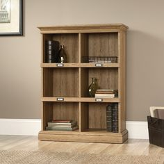 Sauder Barrister Lane 3-shelf Bookcase - Scribed Oak