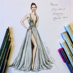 Berta F/W 2017 Evening Style 17-11 @berta (@CopicMarker @Prismacolor) #WorkinProgress #handdrawn #sketch #berta #designer #bertabridal #evening #gown #dress #платье #illustration #fashionillustration #wedding #event #рисунок #illustrator #nataliazorinliu #fashion #copicmarkers #drawing #art #worldofartists #prismacolor #pencil #instafashion #portrait #embroidery #chic #tulle #fashionblogger