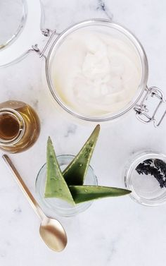Treat your sunburn with this homemade Aloe Vera Lotion.