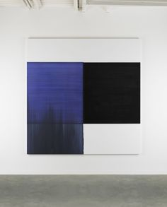 Callum Innes - 'Exposed Painting Blue Violet' at Frith Street Gallery until 24 Apr.2015