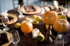 Cute Pumpkin Table Numbers