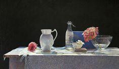 "Colin Fraser, ""Village,"" 25x42, Egg tempera on panel -- at Principle Gallery"