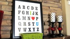 free printable, cute idea for homeschool classroom or playroom.