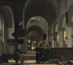 Emanuel de Witte, Interieur van een kerk, 1668. Rotterdam, Museum Boijmans Van Beuningen.