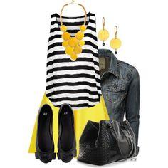 Yellow Skirt & Jewelry