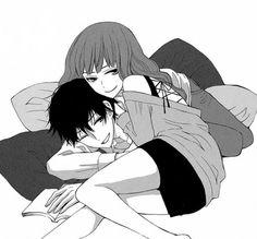 Manga couple (ღ˘⌣˘ღ) very cute ...