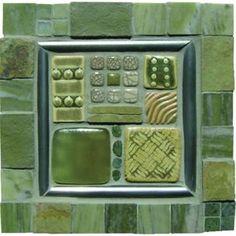 Mosaic Madness Studio G Stone & Slate Mosaic 8 x 8 Hand Painted Ceramic Tile Mosaic Art, Mosaic Tiles, Mosaics, Painting Ceramic Tiles, Clay Tiles, Fireplace Tiles, Mosaic Madness, House Tiles, Hand Painted Ceramics
