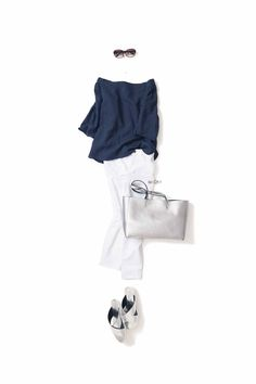 kk-c ~lisa〃. 60 Fashion, Fashion Pants, Daily Fashion, Fashion Outfits, Wardrobe Sets, Work Wardrobe, Classy Outfits, Casual Outfits, White Jeans Outfit