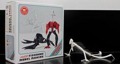 Fishbone model making kits by Roshildur Jonsdottir