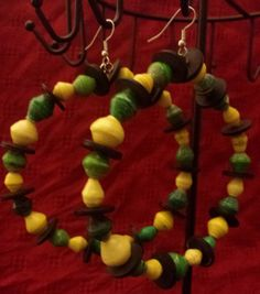 Jamaican Colored African Paper Beaded by CrossCulturalDesigns, $23.00