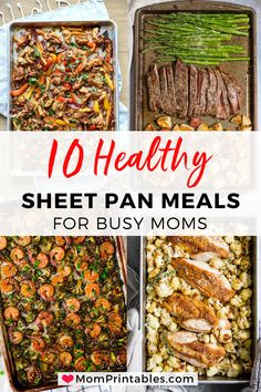 Healthy Sheet Pan Dinners To Try. I've compiled 11 healthy sheet pan dinners to . - Healthy Sheet Pan Dinners To Try. I've compiled 11 healthy sheet pan dinners to try that will mak - Vegetarian Recipes Dinner, Healthy Dinner Recipes, Delicious Recipes, Healthy Dishes, Healthy Supper Ideas, Tasty Healthy Meals, Paleo Meal Prep, Healthy Cooking, Healthy Eating