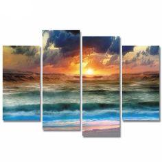 Beautiful Seascape Sunset Canvas