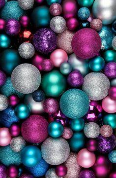 Pink purple blue Silver Christmas snowflake snow winter Christmas