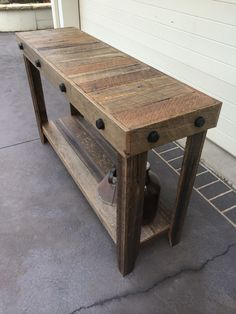 Rustic Recycled Timber Industrial Style Hall Table Entry Table Console in NSW | eBay