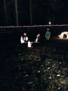 My see-saw with my homemade snowman and elf. See it in action on You tube Nokesville Haunt