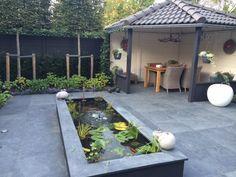 Prestige Glad Motief - Beton-schutting.com Garden Screening, Outdoor Furniture Sets, Outdoor Decor, Pond, Modern Design, Patio, Home Decor, Garden Ideas, Gardening